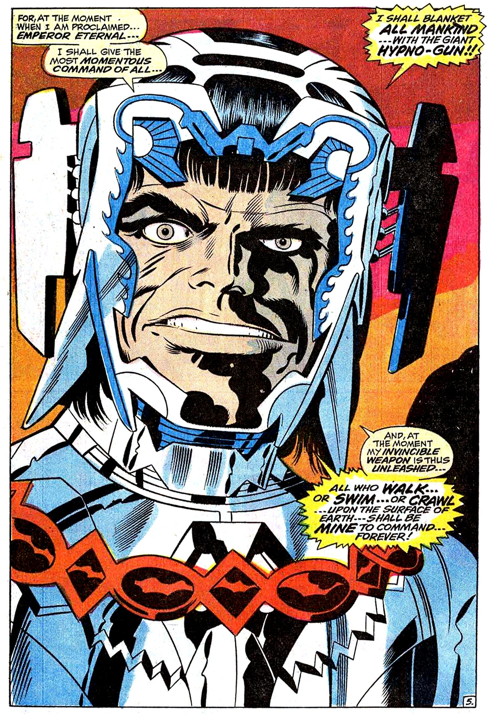 The face of twisted genius, as only Jack Kirby can render it! Maximus the Mad, from 'Fantastic Four' #83