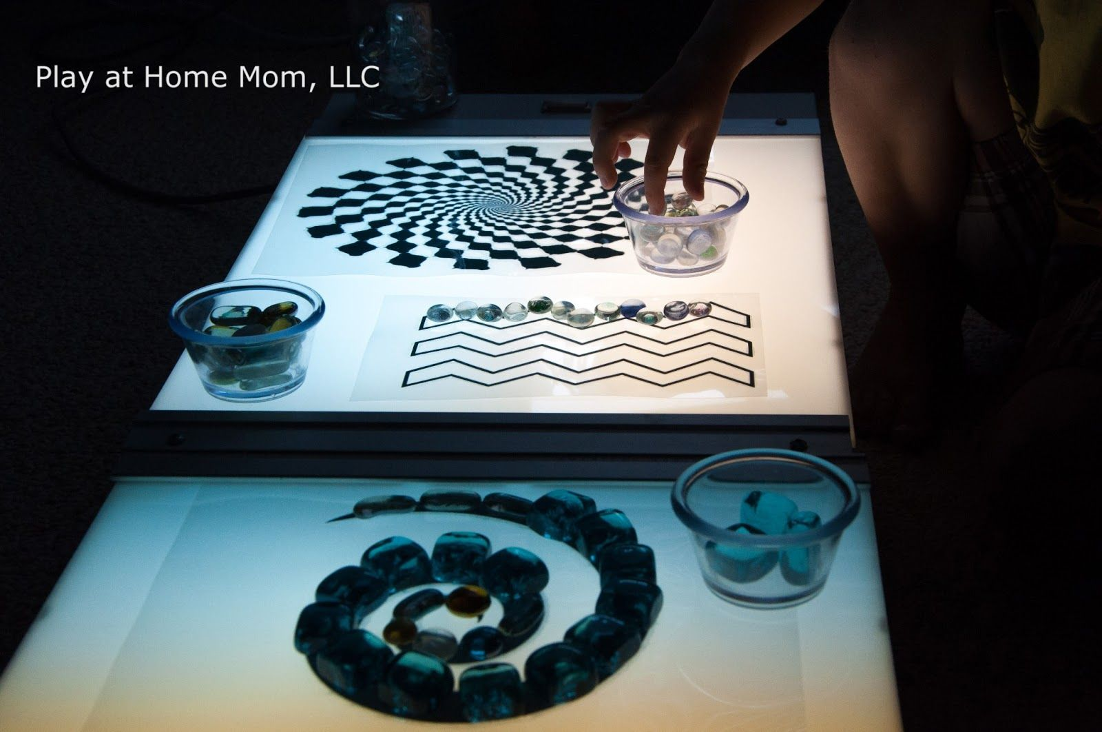 """Exploring Spacial Patterns on the Light Panel from Play At Home Mom ("""",)"""