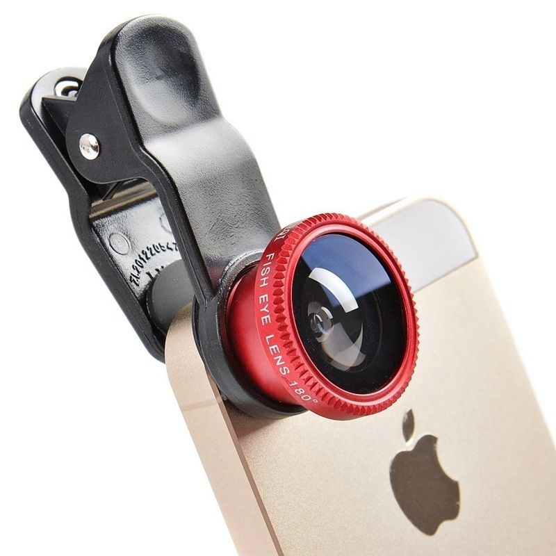 new product bae73 4f0cc Fisheye Lens 3 in 1 mobile phone clip lenses fish eye wide angle ...