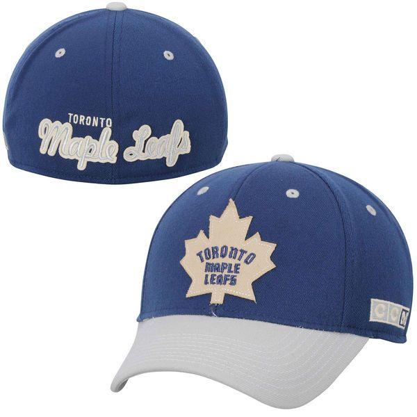 6cfdf63e3c3 Men s Toronto Maple Leafs CCM Navy Blue Flex Hat