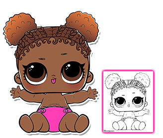 Lil Court Champ Series 3 Lol Doll Coloring Sheet Lol Dolls Cool Coloring Pages Doll Party