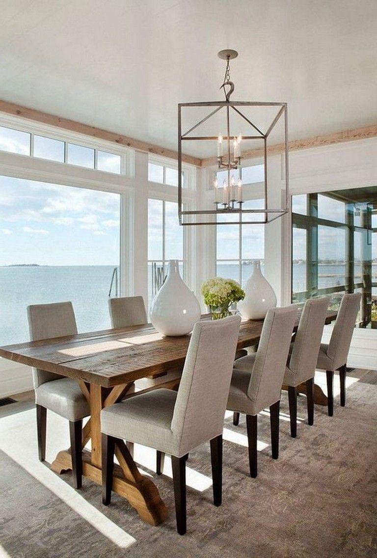 35 stunning modern farmhouse dining room decorating ideas