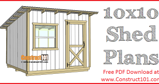 10x10 Lean To Shed Plans Construct101