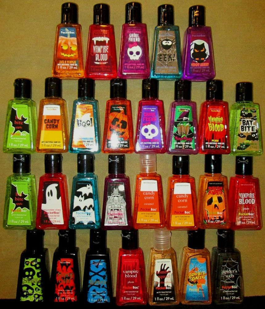 Halloween Pocketbac Hand Sanitizer 5 Pack Bath And Body Works