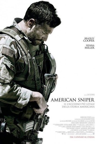American Sniper: locandina italiana del film di Clint Eastwood