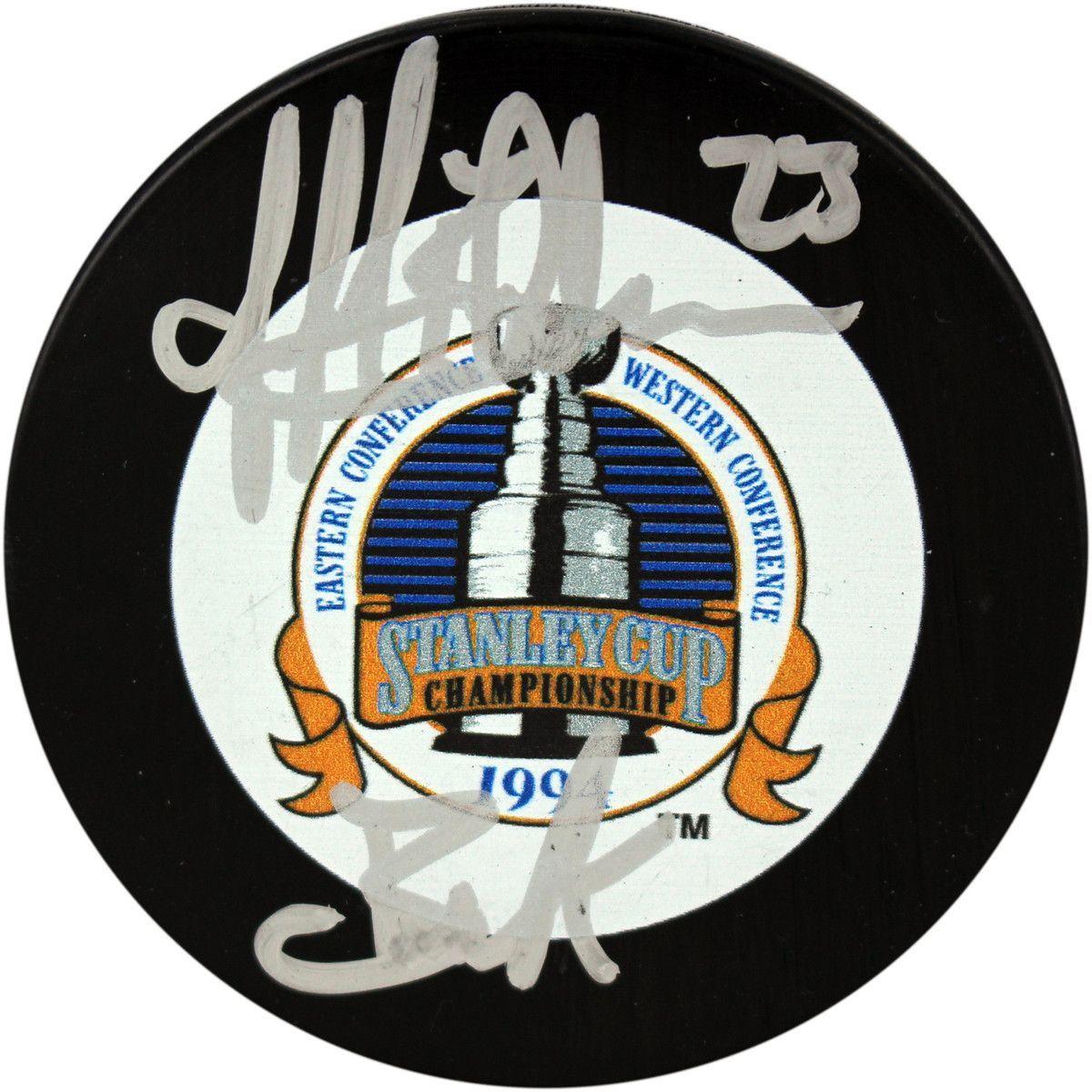 Jeff Beukeboom Signed 1994 Stanley Cup Puck w/ Buk'Insc.