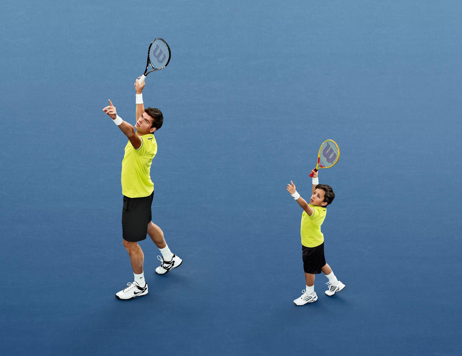 Encourage kids to play tennis, having tennis fun
