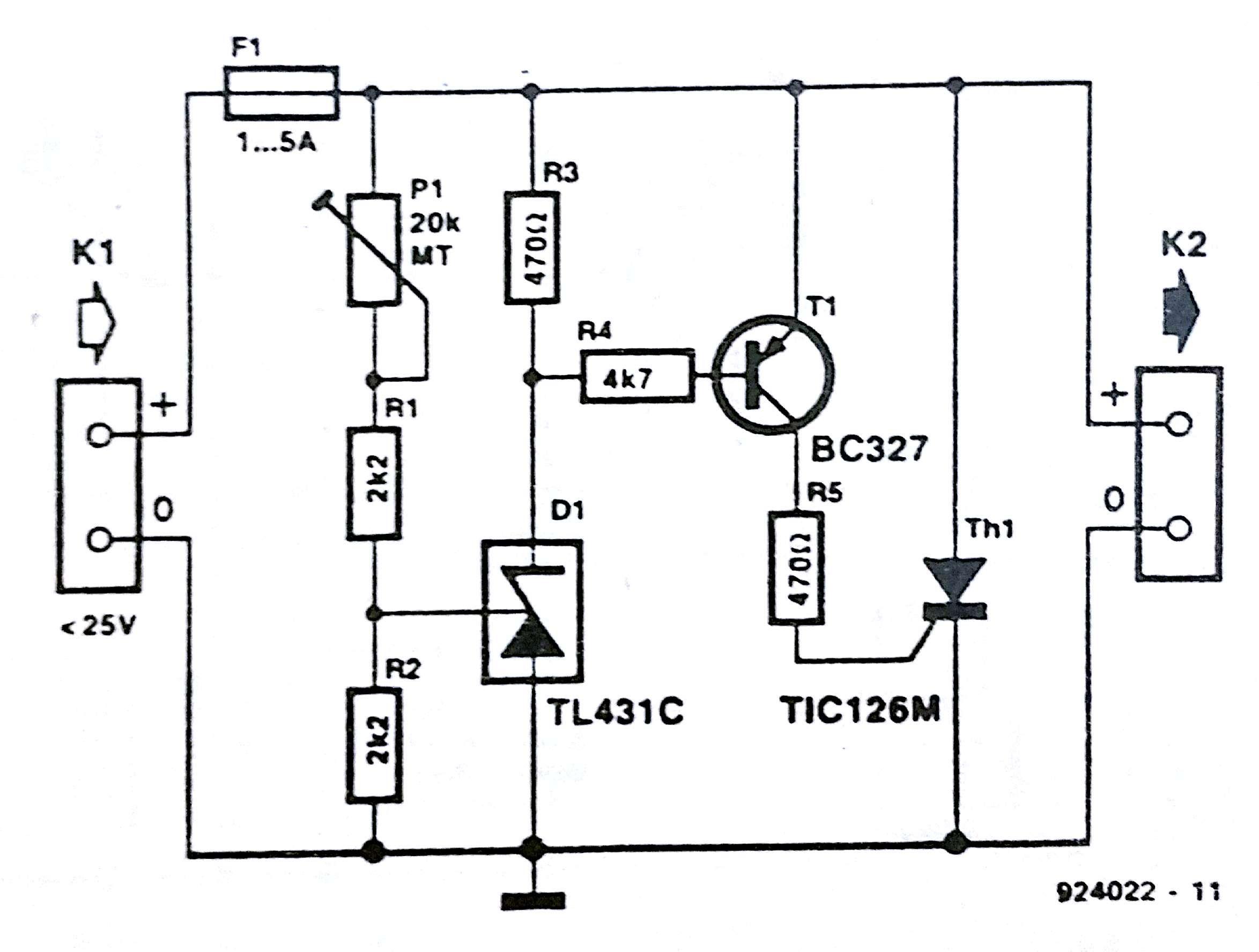 Crowbar Voltage Protection Circuit Diagram