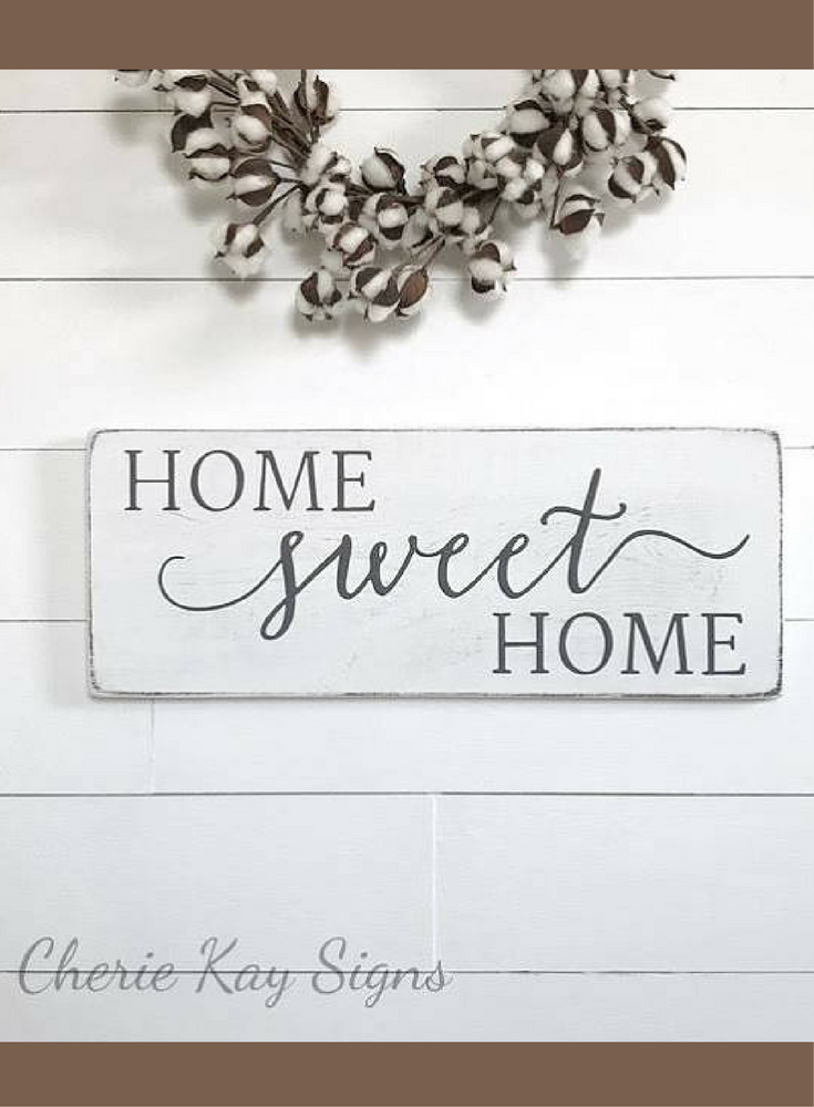 Wall Decor Signs For Home Pleasing Home Sweet Home Sign  Rustic Wood Sign  Rustic Wall Decor Design Inspiration