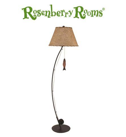 This Fishing Pole Floor Lamp Is Such A Cool Idea Diy Floor Lamp Floor Lamp