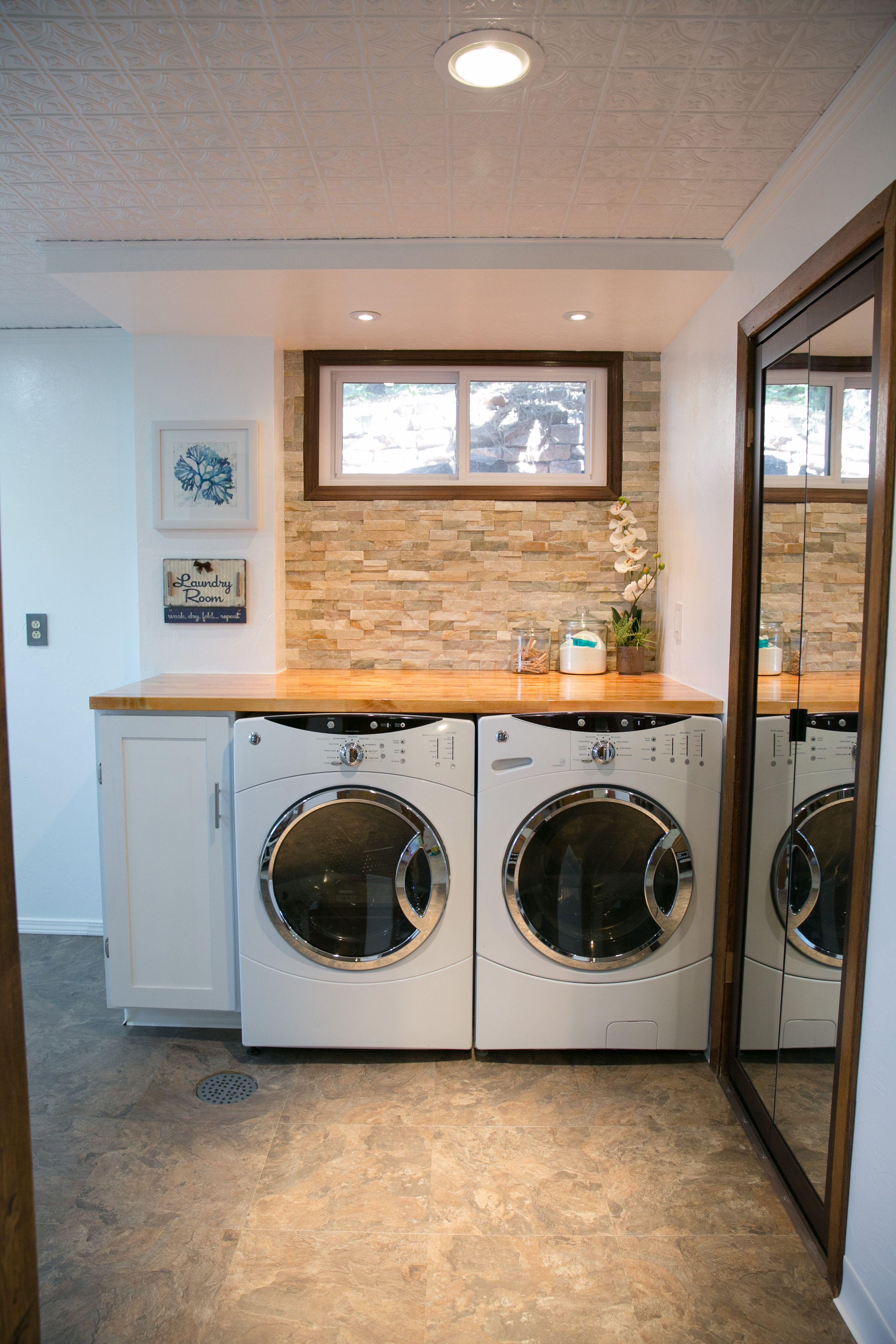 studio basement laundry room remodeling stone wall joice rh pinterest co uk
