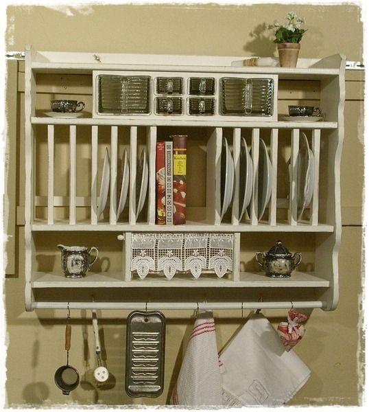 Wandregal, Handtuchhalter, Küche, shabby, weiß Products - handtuchhalter für küche