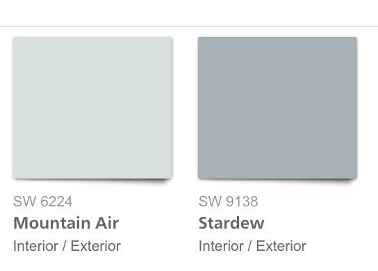 Sherwin Williams Mountain Air And Stardew I Wanted To Point Out That The Blue Gray Shades Like Above In Holistic Palette Are