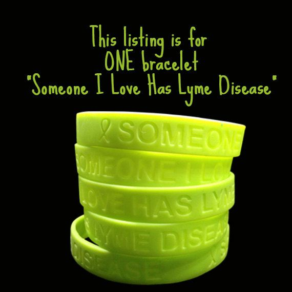 Lyme Disease Awareness 1 Silicone Bracelet By Twistoflymedecals 3 75