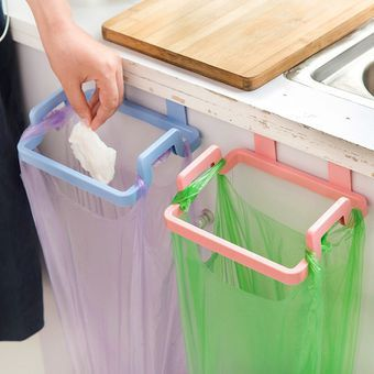 1pcs Durable Door Back Portable Trash Bag Holder Household Cabinet