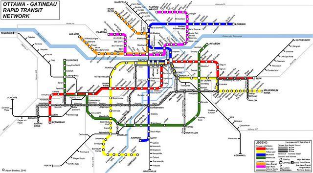 Ottawa Subway Map