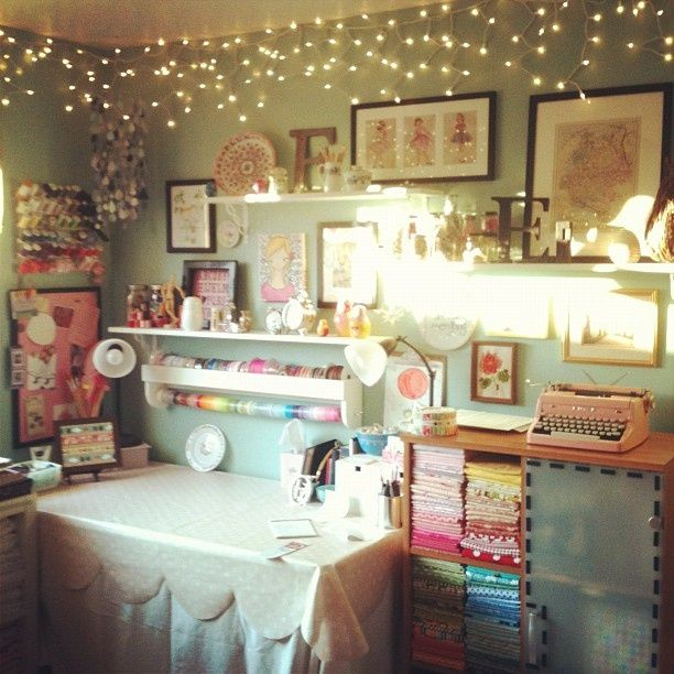 She Shed Craft Room Sewing Room Inspiration Space Crafts