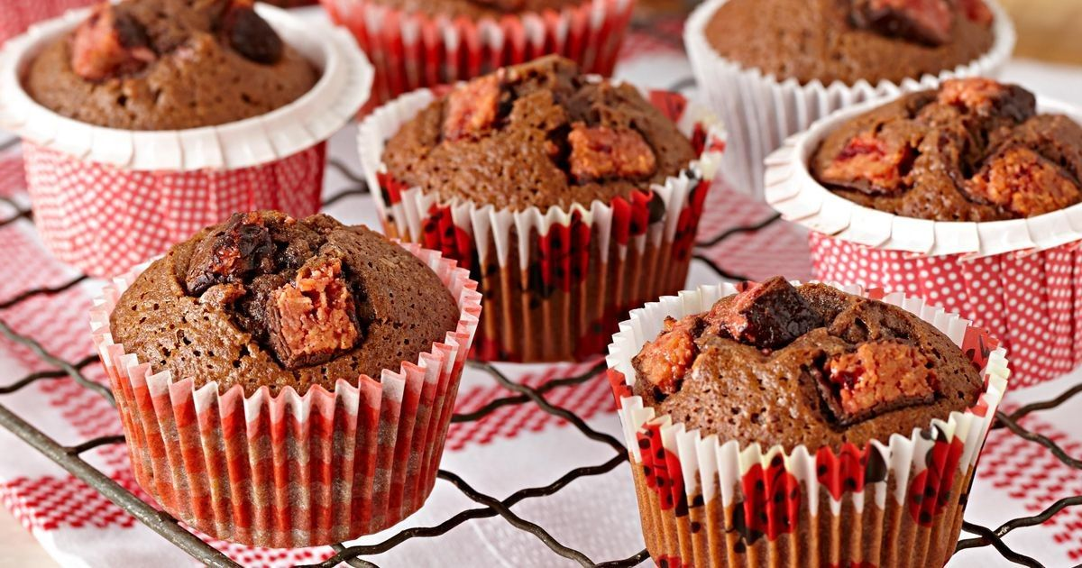 Cadbury Cherry Ripe bars give these muffins a great flavour with a delicious dark chocolate and cherry surprise centre!