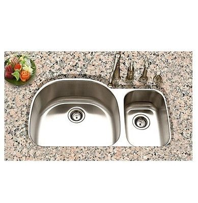 Luxury 32 19 Undermount Stainless Steel Kitchen Sink 70 30 Double