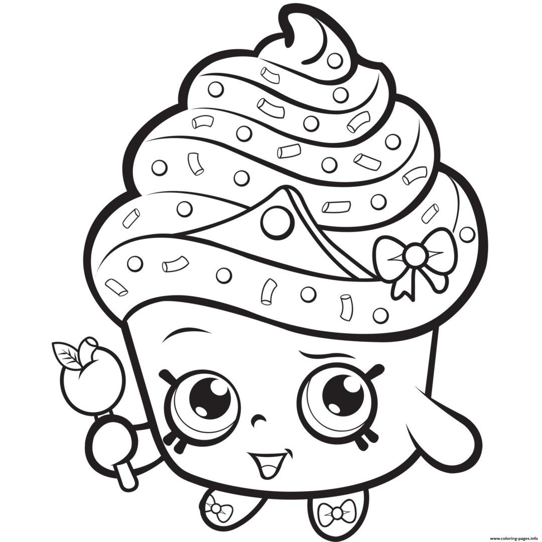 Colorings Co Shopkins Coloring Pages Cupcake Queen