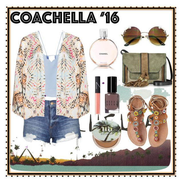 """""""Coachella '16"""" by busraabusalih ❤ liked on Polyvore featuring MANGO, Topshop, Mat, Laidback London, L'Autre Chose, Urban Decay, NARS Cosmetics, Bobbi Brown Cosmetics and Chanel"""