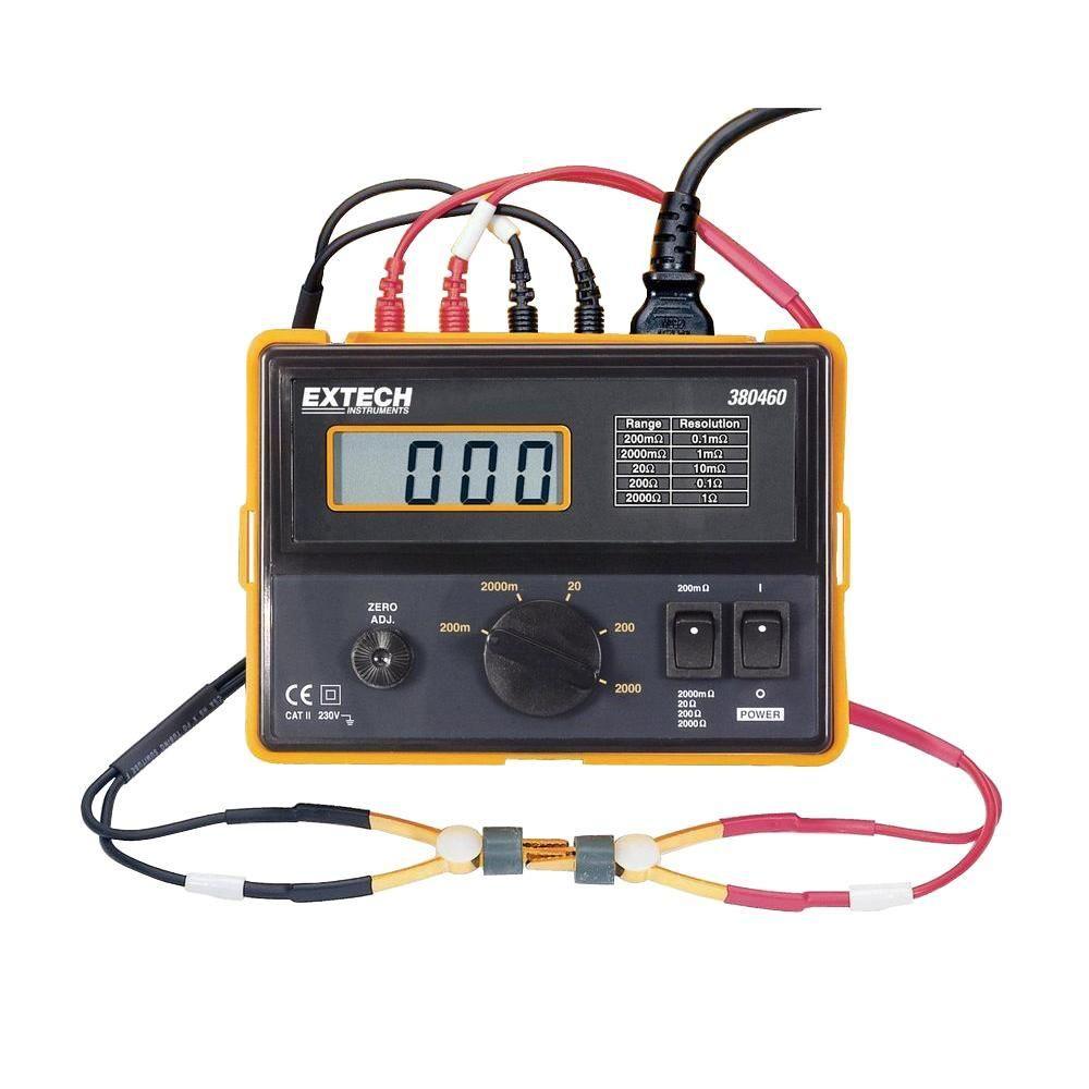 4-Wire 110 VAC Digital Milliohm Meter