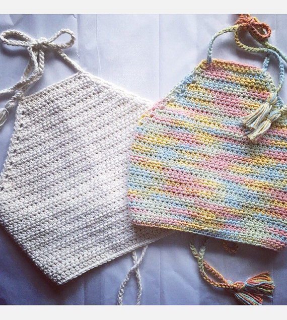Crochet festival top, crochet top, crop top, crochet bikini top ...