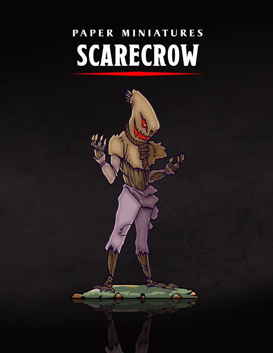 image relating to Printable Paper Miniatures called The Scarecrow Paper Miniature Launch within 2019 Paper