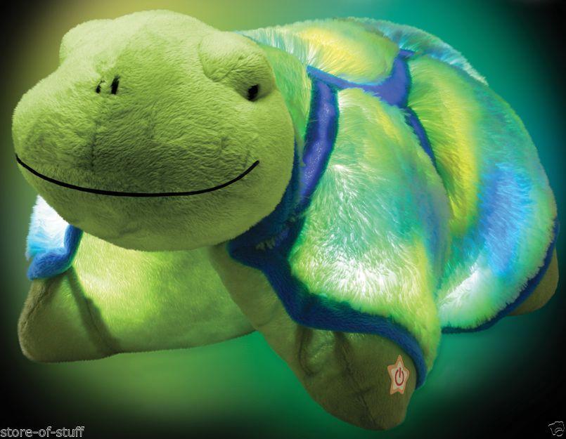 New Jumbo Glow Pets Glow Turtle As Seen On Tv Pillow Pets Lights Up Http Www Ebay Com Itm New Jumbo Glow Animal Pillows Pet Turtle Cute Stuffed Animals