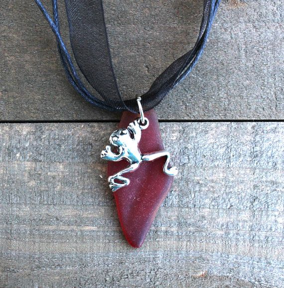 Red beach glass necklace with frog charmred sea glass pendant with red beach glass necklace with frog charmred sea glass pendant with frog charmfrog pendantred necklacegift for her mozeypictures Image collections