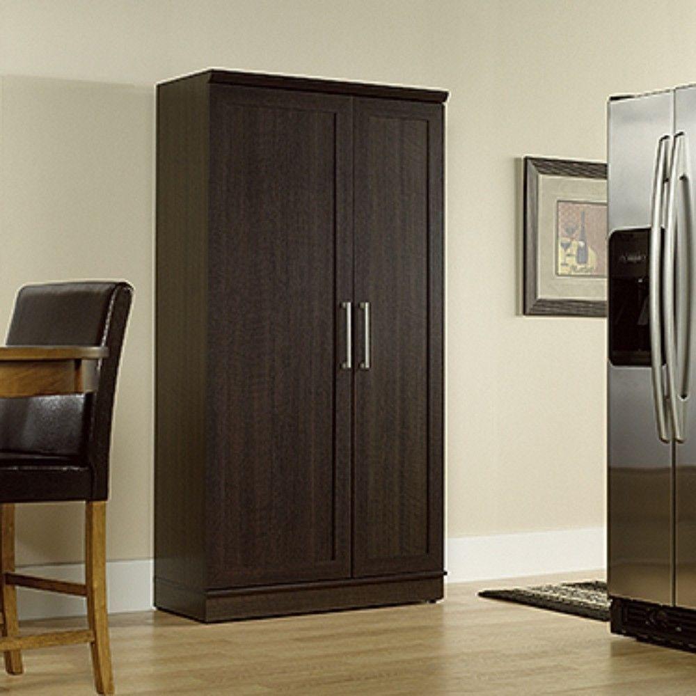 Homeplus Storage Cabinet In Dakota Oak Sauder 411572 In 2020 Storage Cabinet Wooden Storage Cabinet Storage Cabinets