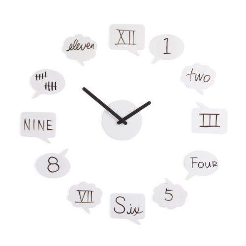 Umbra 118520 660 Tick Talk Wanduhr Weiss Clock Wall Modern Clock