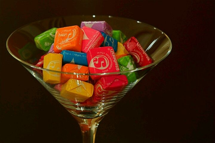 Starbursts! | Martini, Martini party, Candy buffet