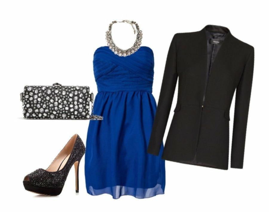Combinar un vestido azul rey