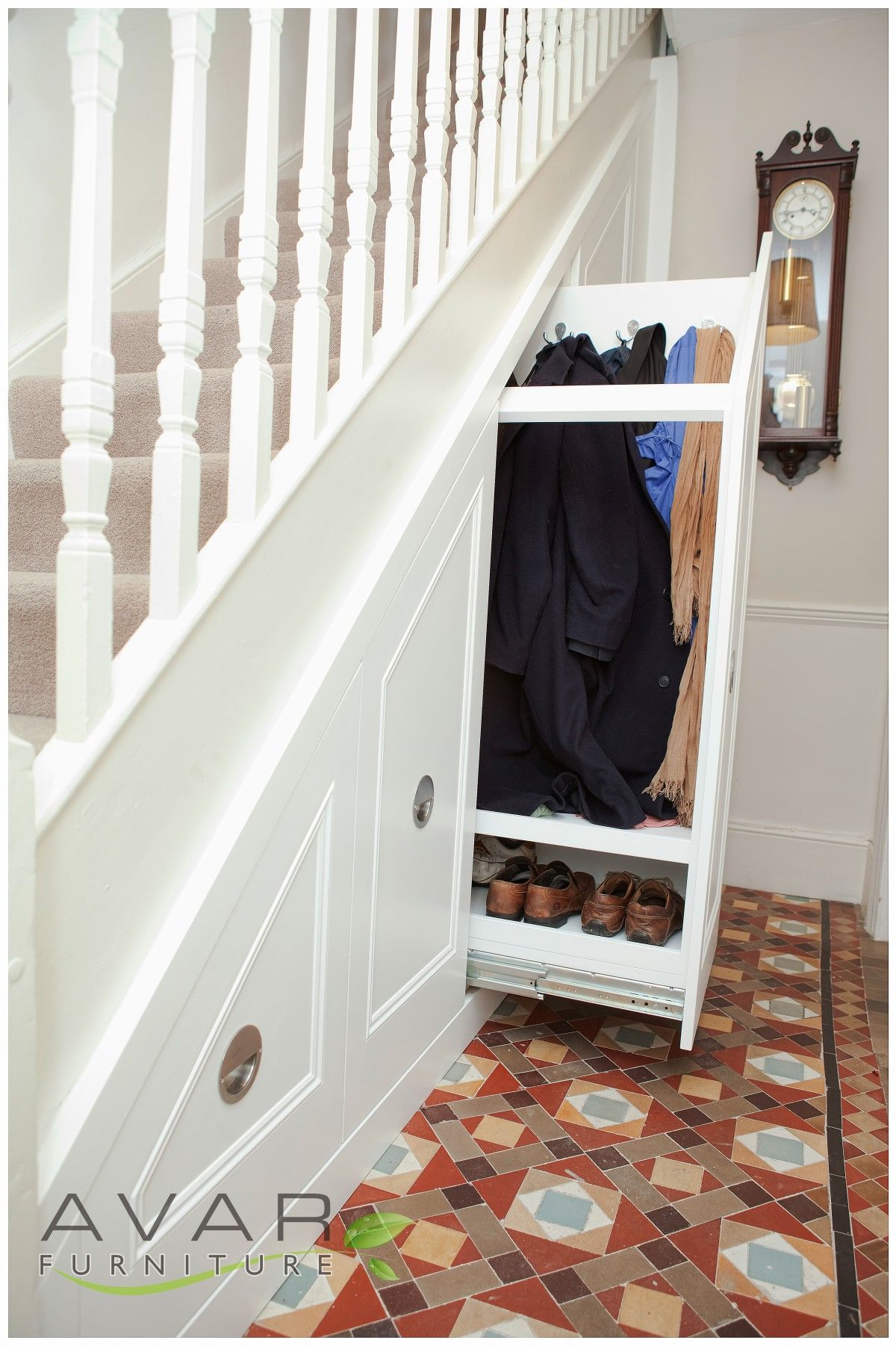 Portrayal Of Cupboard Under The Stairs Arrangement Under