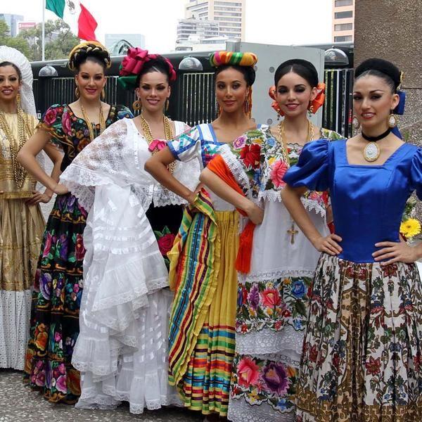 Trajes Tipicos De México En 2019 Vestidos Mexicanos