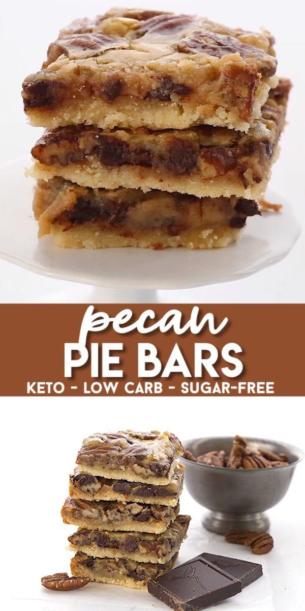 Chocolate Pecan Pie Bars #lowcarbeating