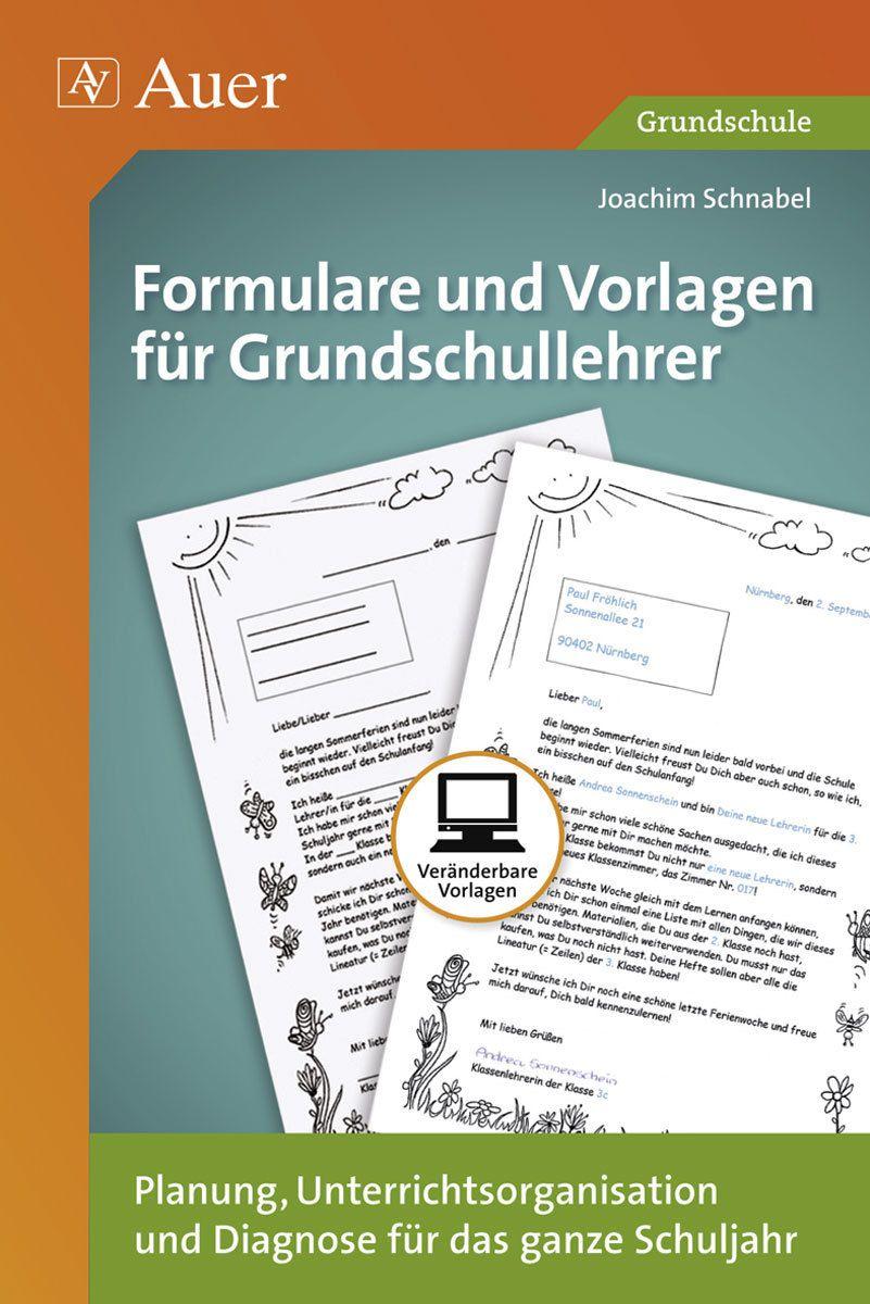 Formulare Und Vorlagen Fur Grundschullehrer Grundschullehrer Grundschule Lehrer