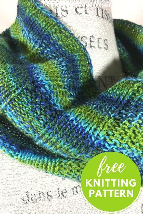 Sea Glass Cowl Free Knitting Pattern Knitting Patterns Glass And
