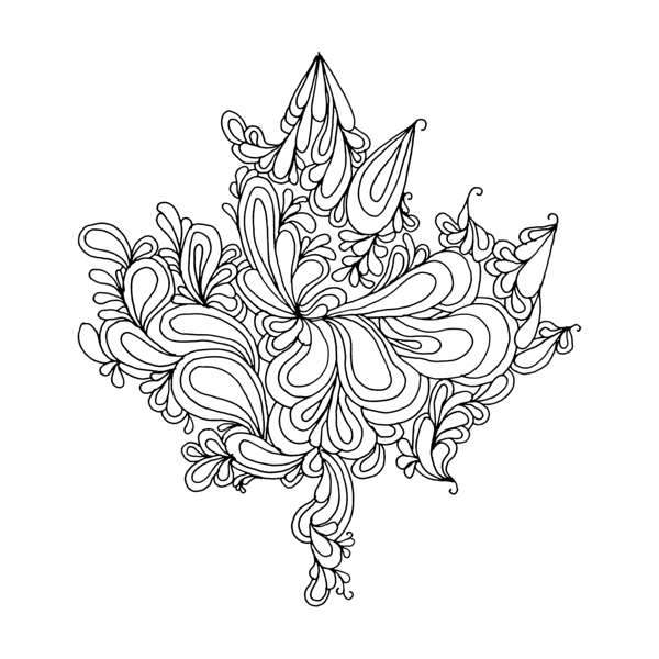 Canadian Maple Leaf Colouring Page by Donald Lee | Drawing | Pinterest