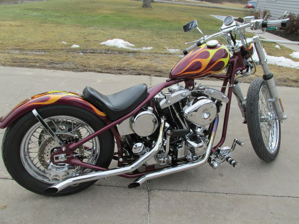 Harley-Davidson : 1973 chop....don't think I'd change too much. Props to the builder.