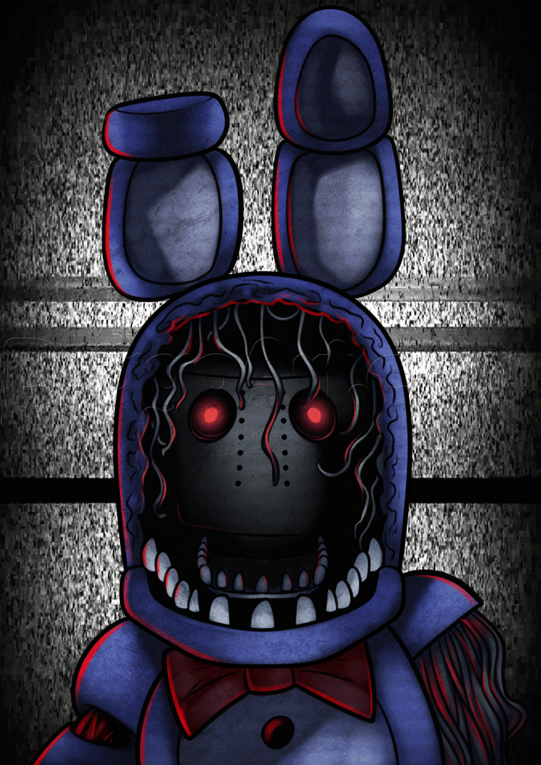 How To Draw Withered Bonnie Step By Step Video Game Characters Pop Culture Free Online Drawing Tutorial Added By Dawn Febru Fnaf Fnaf Art Fnaf Wallpapers