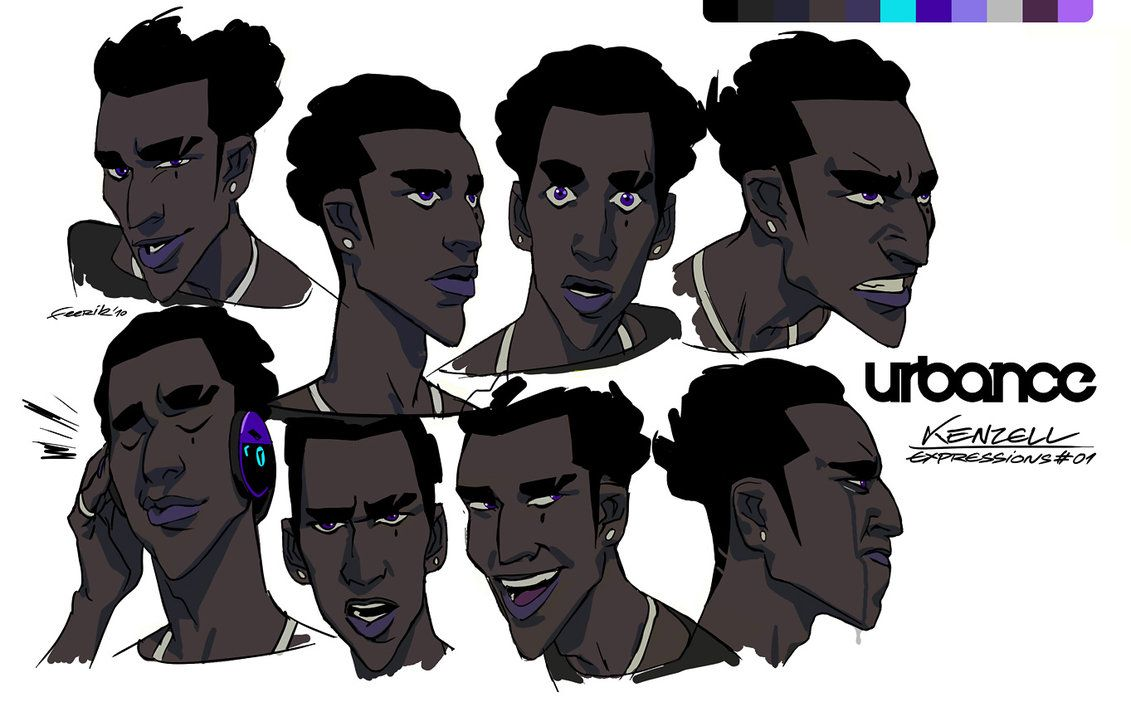 Character Design Monthly : Kenzell expressions ★ character design references