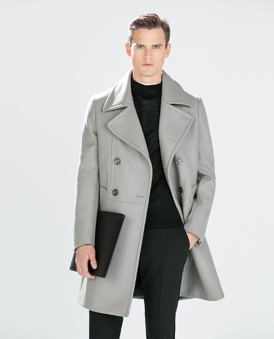 Abrigo azul clarito zara