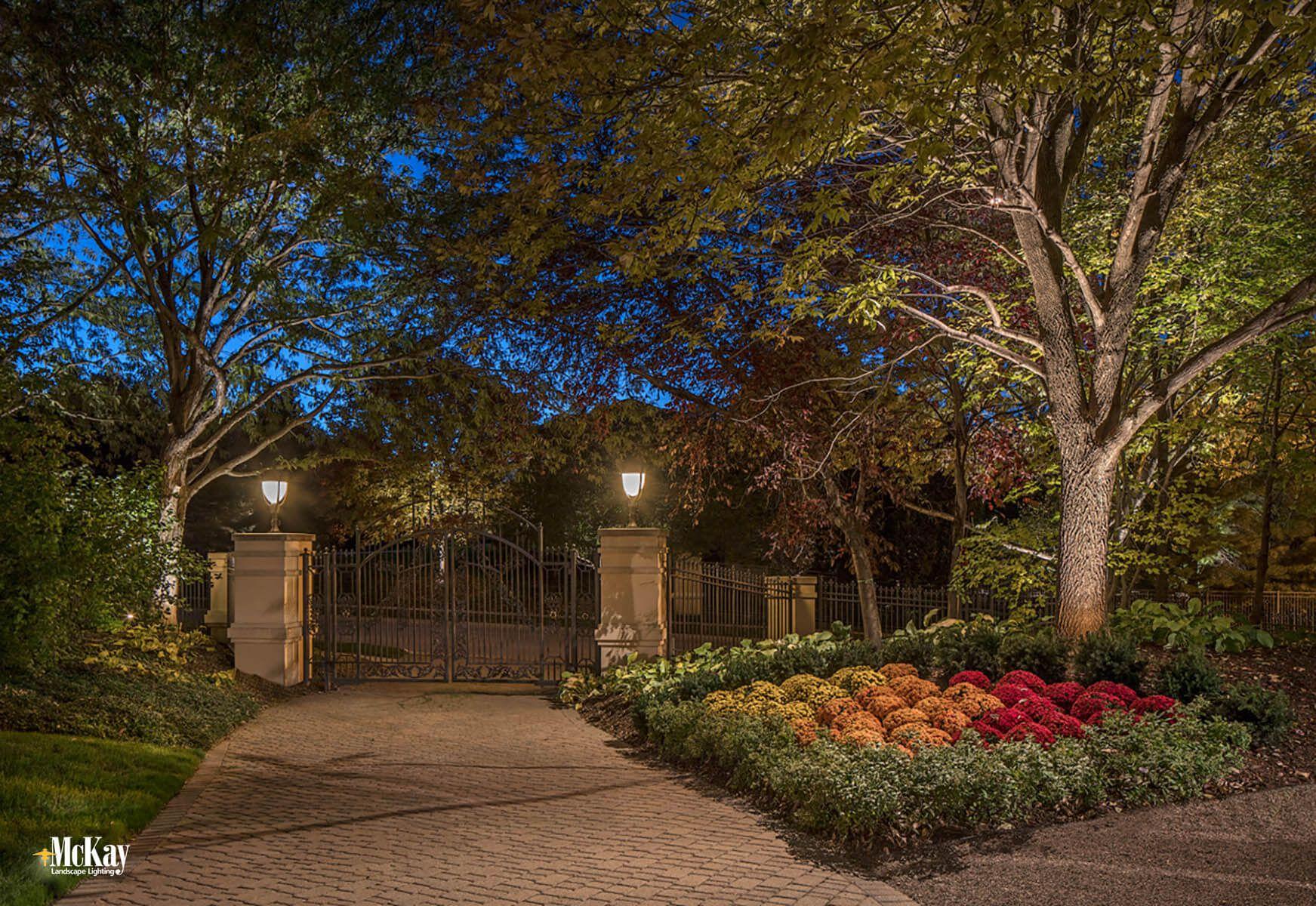 Gate Security Lighting Omaha Nebraska Mckay Landscape Lighting