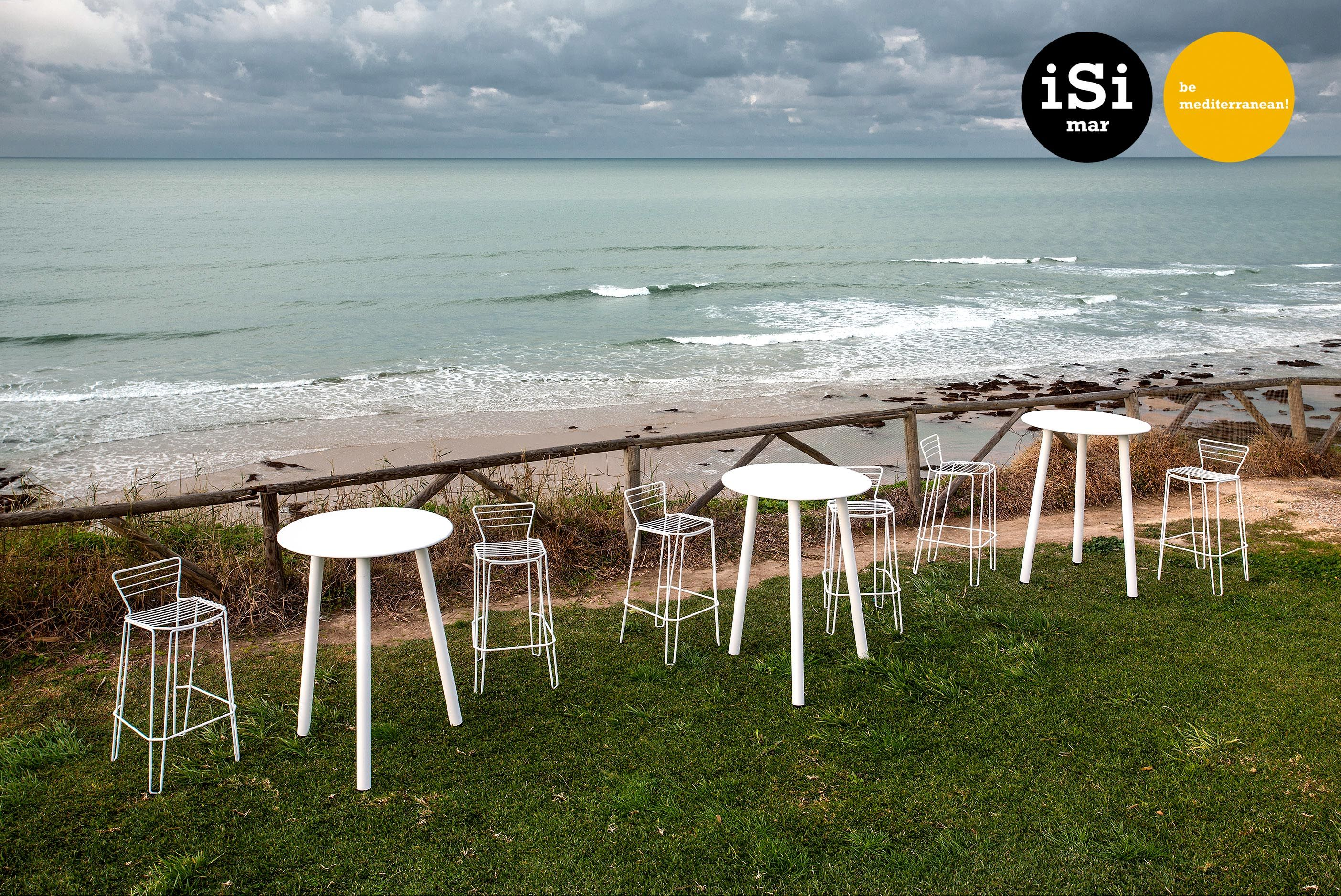 Menorca stool & Corsica table, outdoor metal furniture by iSimar ...