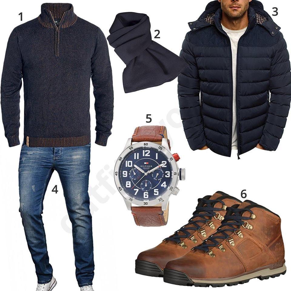 Schwarz Braunes Winteroutfit Fur Manner Herren Outfit Herrenkleidung Und Outfit