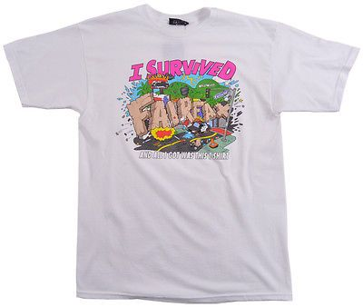 87066653 The Hundreds Fairfax Survived Tee Shirt Fall 15 Skate Apparel Fashion Top  White | eBay