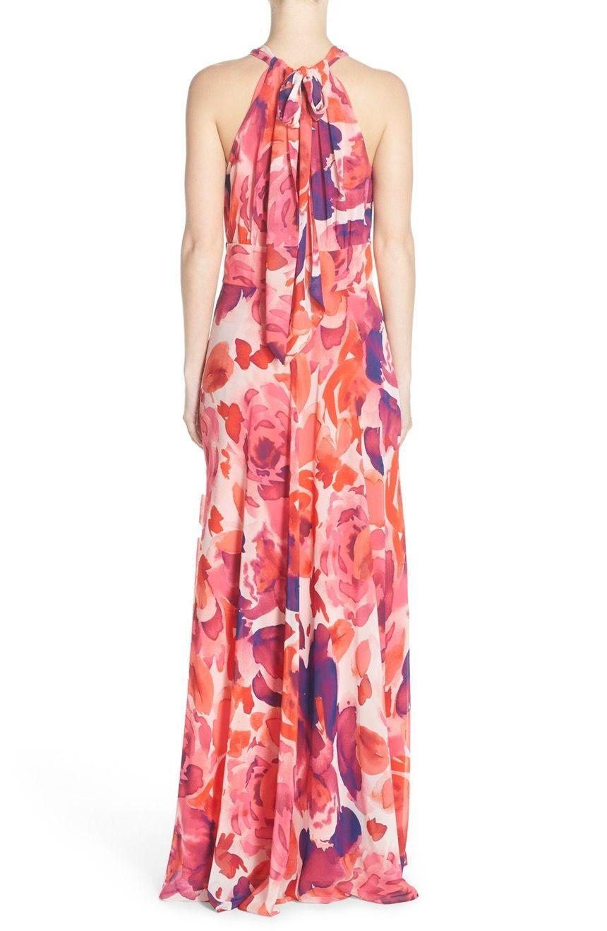f991d158b3c Main Image - Eliza J Floral Print Halter Maxi Dress (Regular   Petite)