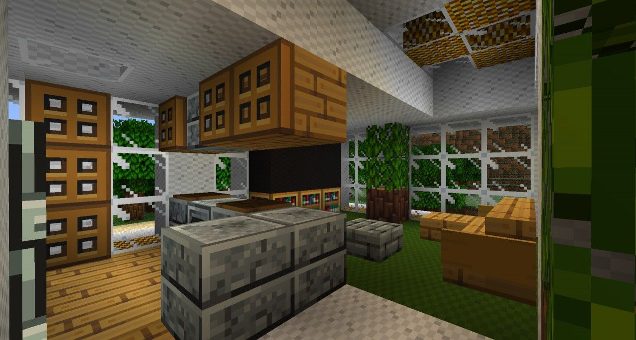 Kitchen With Images Modern Minecraft Houses Minecraft House